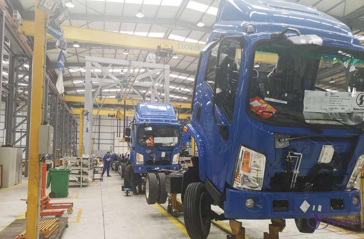 Installation of the truck production line and truck assembly line
